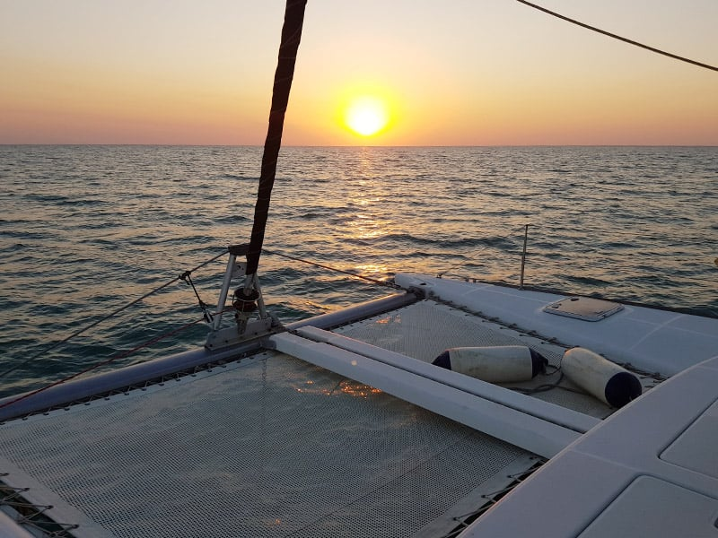 Private sunset sailing charters Perth