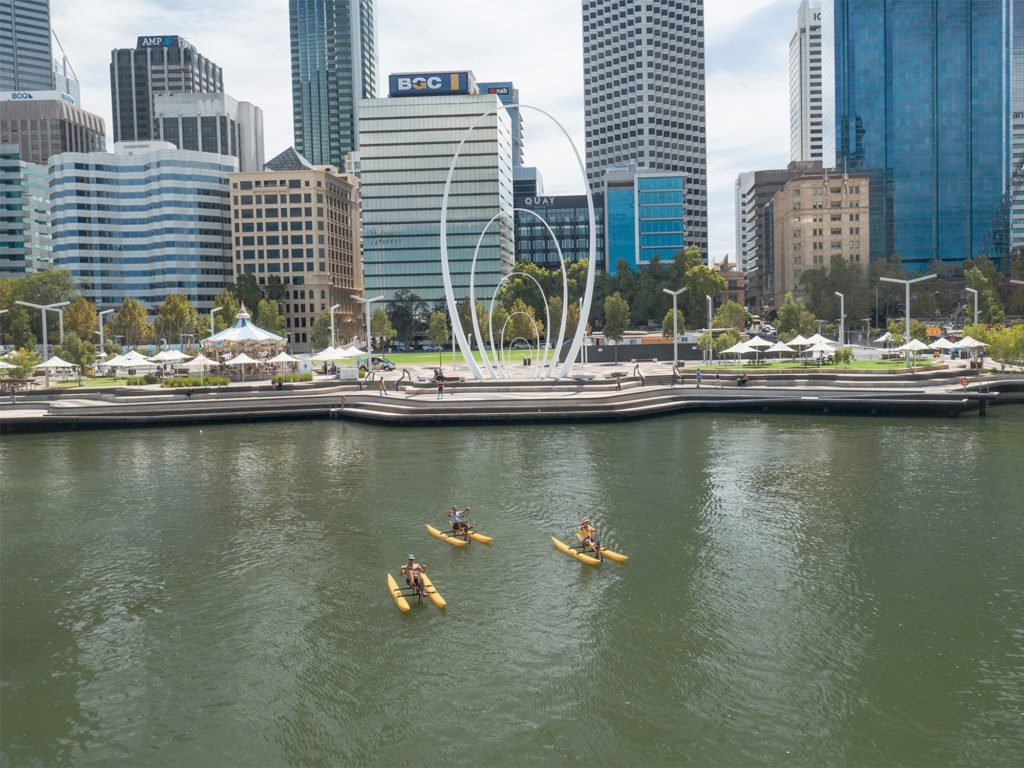 Elizabeth Quay views from the water