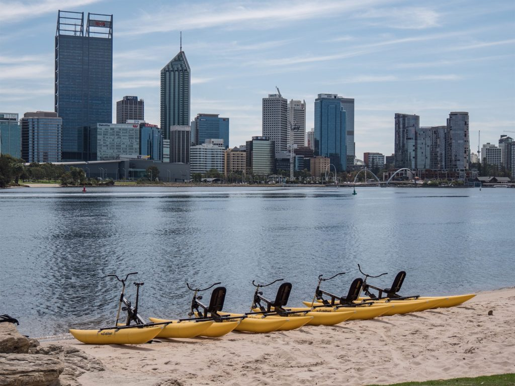 Waterbike adventure tours on the Swan River